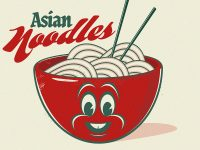 Asian Noodles Vintage Logo