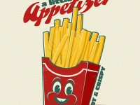 Pommes Cartoon Logo