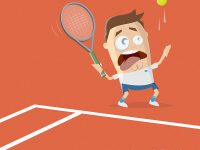 Tennis Cartoon Illustration