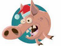 Weihnachtsschwein